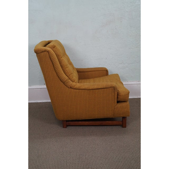 Image of Mid-Century Walnut Frame Lounge Chair And Ottoman