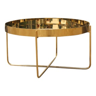 Habibi Round Polished Brass Side Table