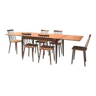 Mid Century Danish Modern Folke Palsson Teak Dining Set