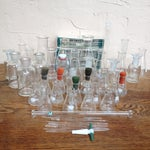 Image of Vintage Laboratory Flask Set