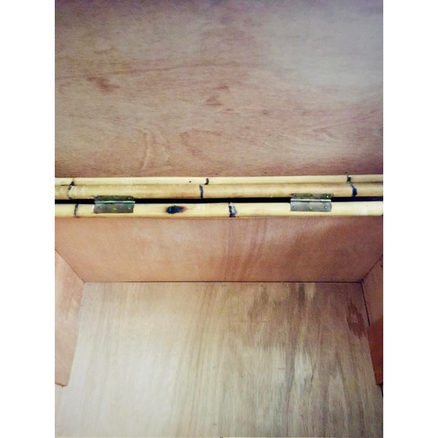 Vintage Bamboo Trunk Blanket/Toy Chest - Image 7 of 8
