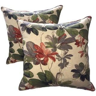 Christopher Harrison Botanical Pillows - a Pair
