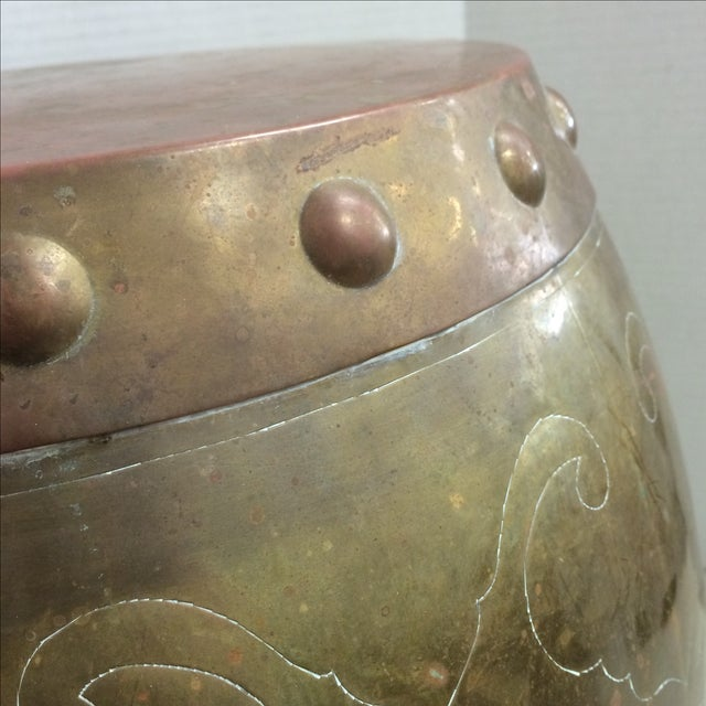 Vintage Asian Brass Garden Stool - Image 4 of 7