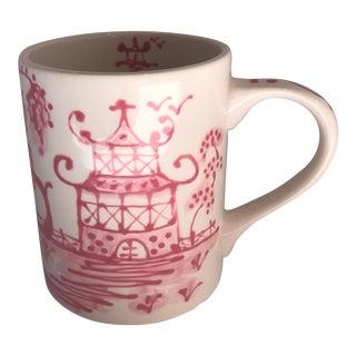 Pink Porcelain Chinoiserie Mug