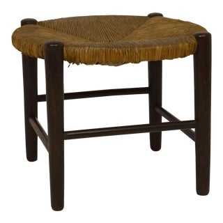 English Rush Cane Stool