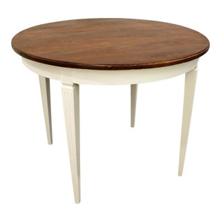 French Country Regency-Style Round Extendable Dining Table
