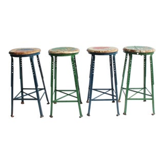 Vintage Folk Art Advertising Pepsi & 7UP Stools