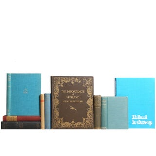 Vintage Dutch History Books - Set of 9