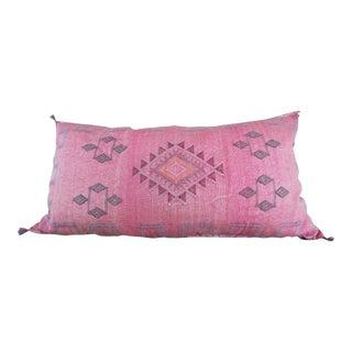 Pink Moroccan Sabra Cactus Lumbar Cushion