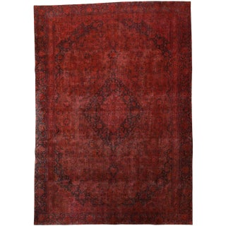 "Vintage, Hand Knotted Area Rug - 8' 10"" x 12' 6"""
