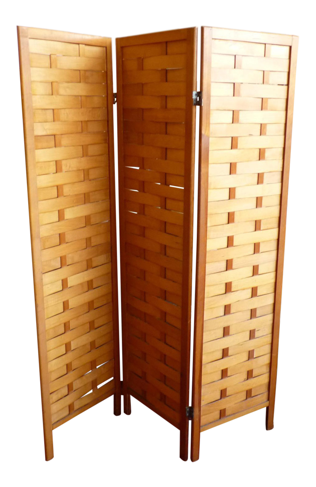 Mid Century Modern Woven Wood Room Divider or Screen Chairish