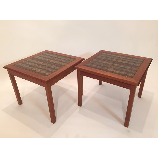 Toften Tile Top Side Tables - A Pair - Image 2 of 7