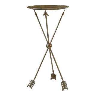 Maison Jansen Style Brass Arrow Table/Hostess Table