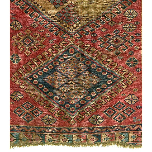 Old Caucasian Oriental Rug - 2′10″ × 3′11″ - Image 4 of 9