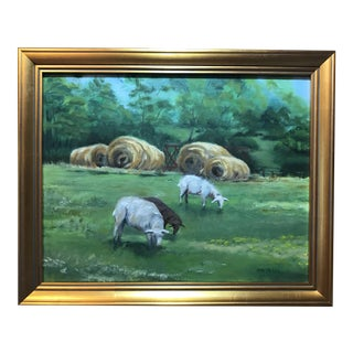 Grazing Sheep Oil on Canvas