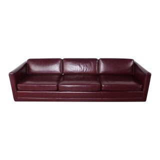 Sofa by Ward Bennett in Original Leather