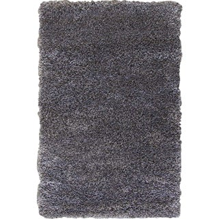 Dark Gray and Charcoal Shag Rug - 4'x6'5''