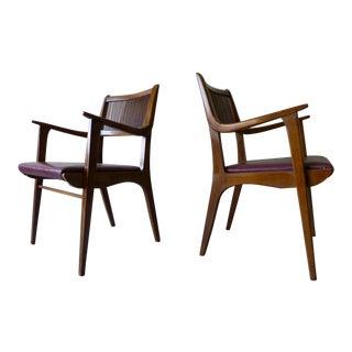 John Van Koert for Drexel Mid Century Modern Armchairs - a Pair