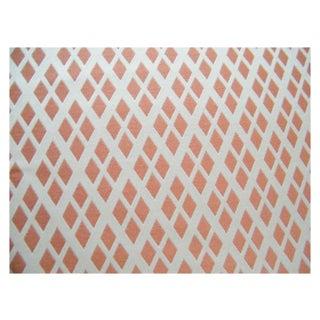 "Lulu Dk Fabric ""GoldenEye"" in Coral - 1.5 Yards"