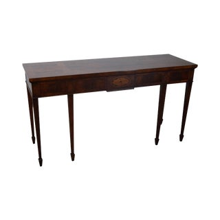 Hekman Flame Mahogany & Yew Wood Inlaid Federal Style Console Table