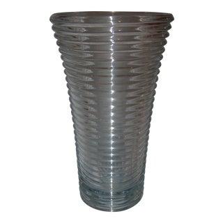 Mid-Century Cut Glass Vase