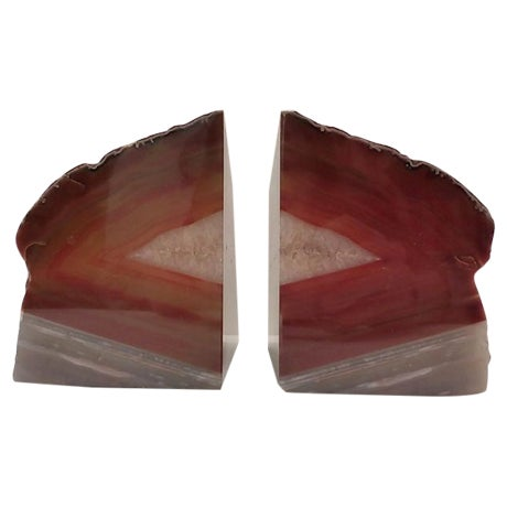 Image of Brazilian Agate Bookends - A Pair