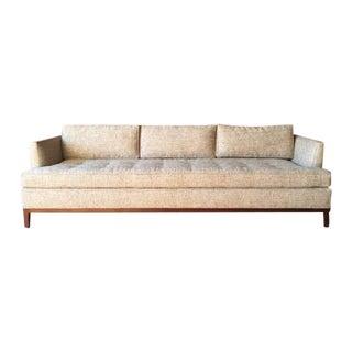 Oatmeal Mid-Century Style Custom Sofa