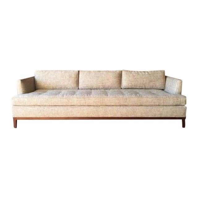 oatmeal mid century style custom sofa chairish. Black Bedroom Furniture Sets. Home Design Ideas