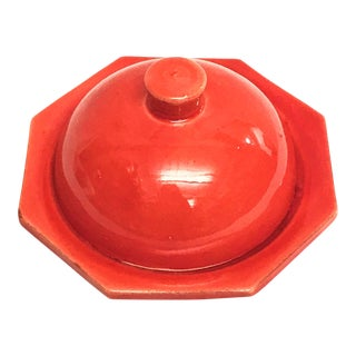 Hand Painted Red Moroccan Ceramic Serving Dish