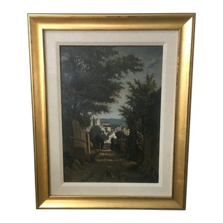 Antique 1870 French Oil Painting on Panel