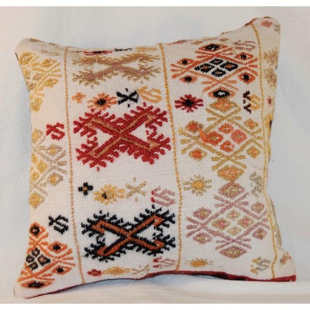 Vintage Square Handmade Bohemian Kilim Pillow - Image 5 of 5