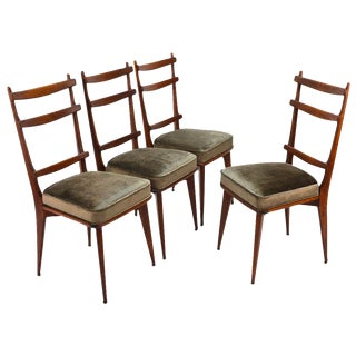 Sculptural Italian Dining Chairs - Set of 4