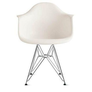 Image of Eames Molded Plastic Armchairs - Set of 2