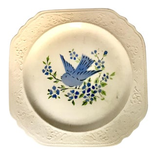 1930s Limoges China Company Square Bluebird Plate