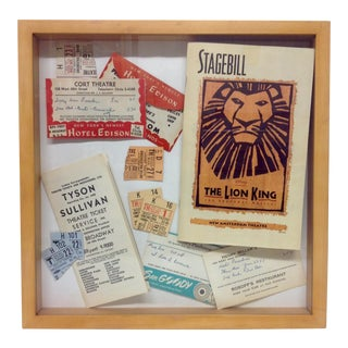 1950s Broadway Memorabilia Shadowbox
