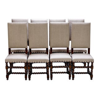 Spanish 19th-Century High Back Chairs - Set of 8