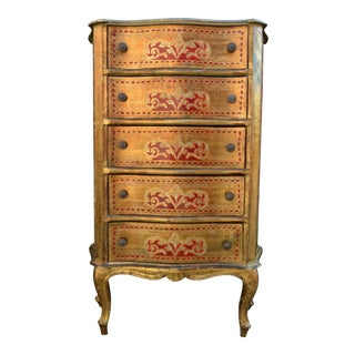Italian Florentine Gilt Lingerie Chest