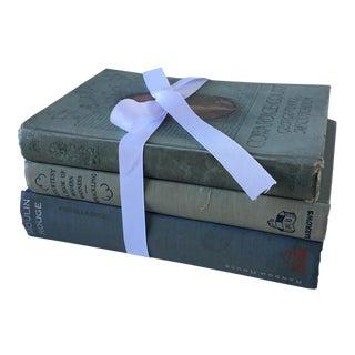 Vintage Blue & Green Books - Set of 3