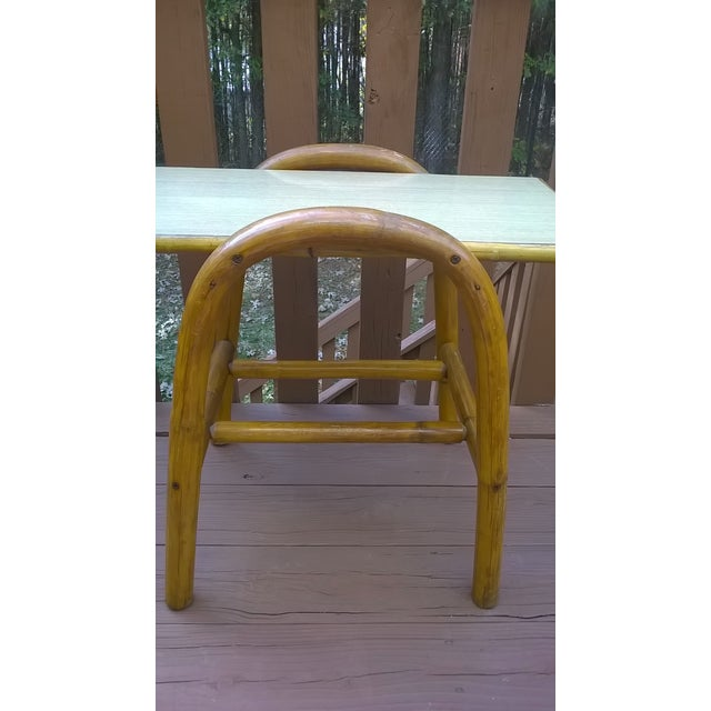 Image of Vintage Bamboo Bent Wood Rattan Table