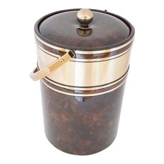 Georges Briard Tortoise Brown & Brass Ice Bucket