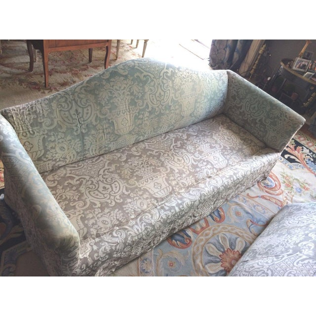 Fortuny Covered Camel-Back Sofa with Rolled Arms - Image 7 of 10