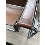 Image of Vintage Wassily Brown Leather Chair