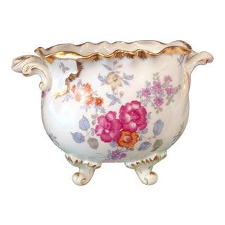 Porcelain Pink Fancy Floral Cachepot