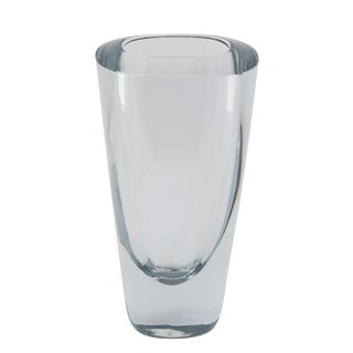RECTANGULAR STROMBERGSHYTTAN GLASS VASE, CIRCA 1950S