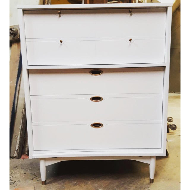 Hooker Mid-Century Lacquered White Chest - Image 8 of 8