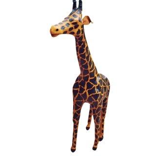 Handmade Paper Mache Giraffe