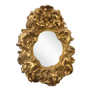 Sculptural Gold Gilt Wall Mirror