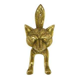 Solid Cast Brass Fox Door Knocker