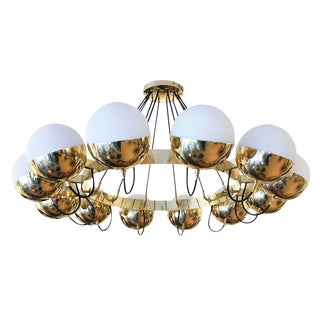 "Customizable ""Sospeso"" Twelve Globe Chandelier by Fedele Papagni for Gaspare Asaro"