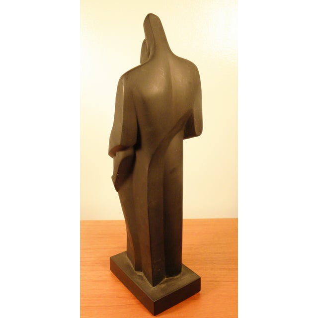 Modern Sculpture Embracing Man and Woman - Image 5 of 8